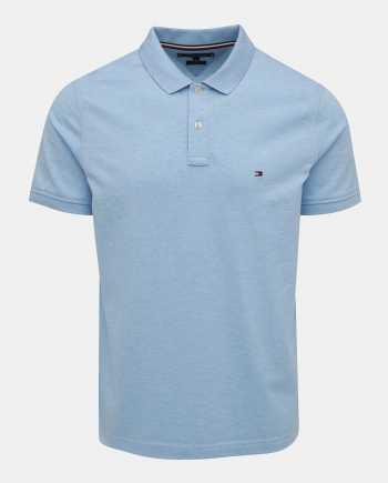 Světle modré pánské basic polo tričko Tommy Hilfiger