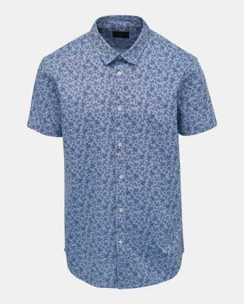 Modrá vzorovaná košile Selected Homme Chris