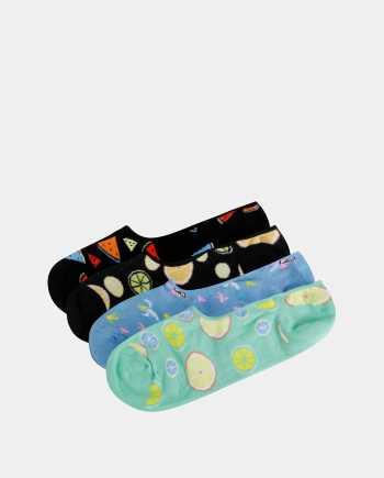 Sada čtyř párů barevných vzorovaných nízkých ponožek Jack & Jones Fruit
