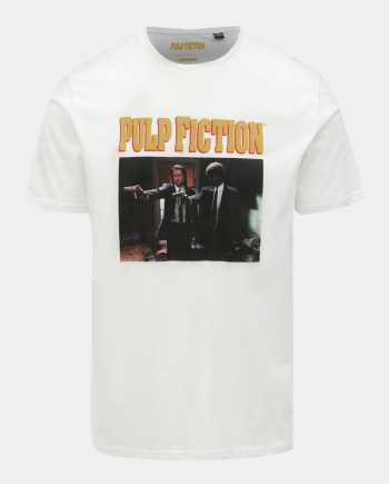 Bílé tričko s potiskem ONLY & SONS Pulp Fiction