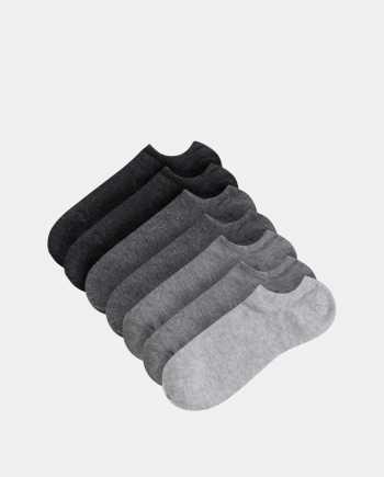 Sada sedmi párů nízkých šedých ponožek TALLY WEiJL