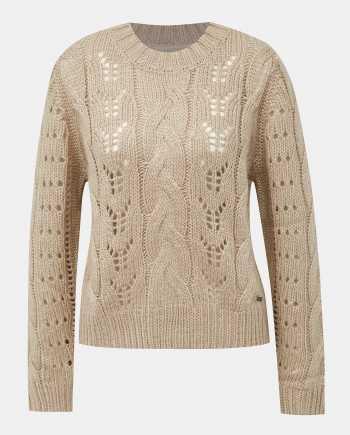 Béžový dámský svetr s příměsí vlny Pepe Jeans Candela