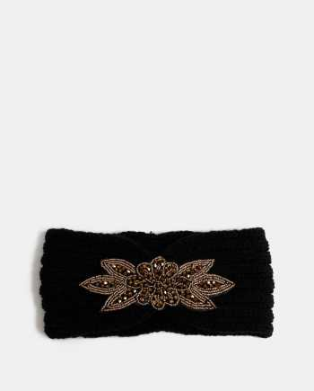 Černá čelenka s ozdobou ve zlaté barvě Haily´s Mimi