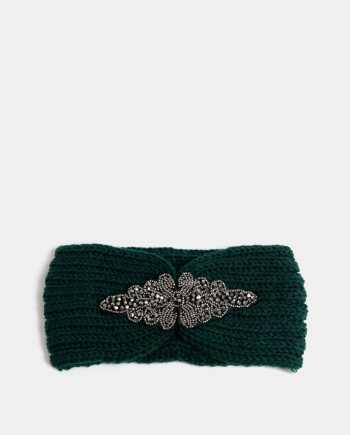 Zelená čelenka s ozdobou ve stříbrné barvě Haily´s Mimi